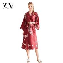 ZOLEEVON Silk Robe Women Satin Night Sexy Bathrobes Grow For Bridesmaid Summer