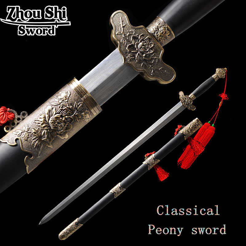 Heminredning Craft Sword Forged Damascus Steel Blade Sword antik - Heminredning