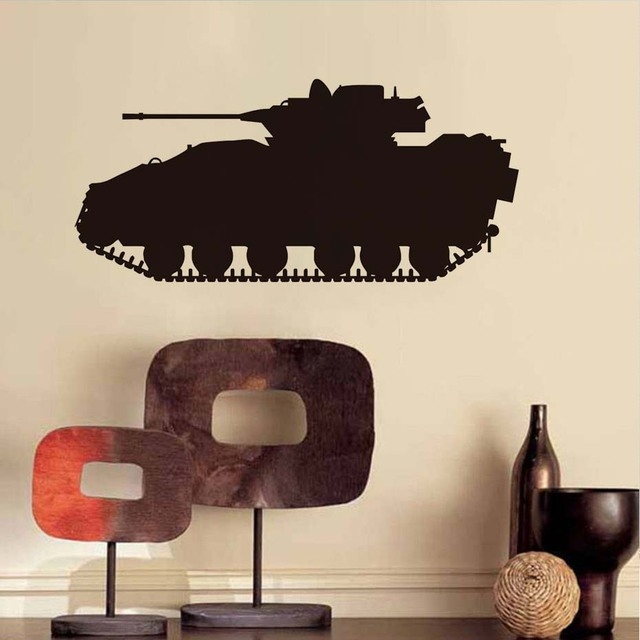 Military Army Tank Wall Sticker Waterproof Removable Art