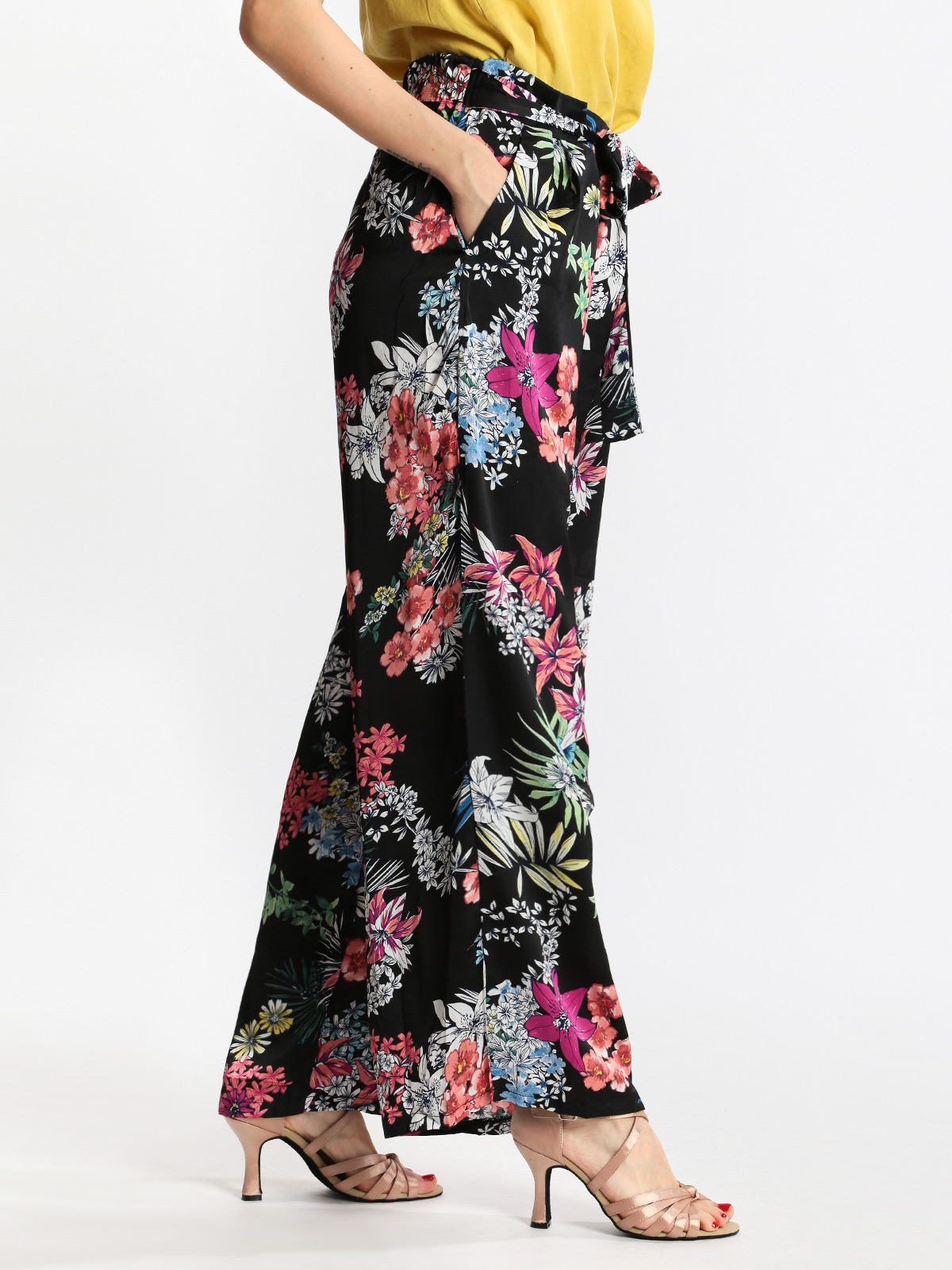 Soft Pants Palazzo With Flower Printing