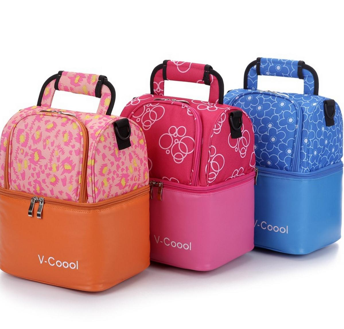 V Coool Fashionable Tote Messenger Insulated Baby Bottle Bag Thermal Feeding Milk Stroage Holder Diaper