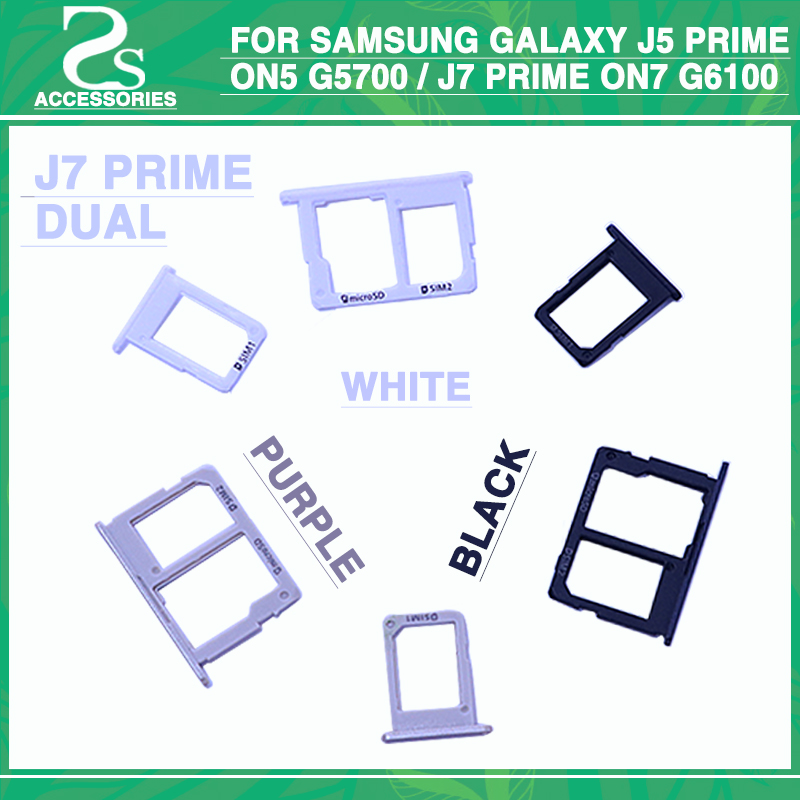 10pcs SIM Card micro SD Tray Slot Holder For Samsung Galaxy J5 Prime On5 G5700 / J7 Prime On7 G6100 2016 Version