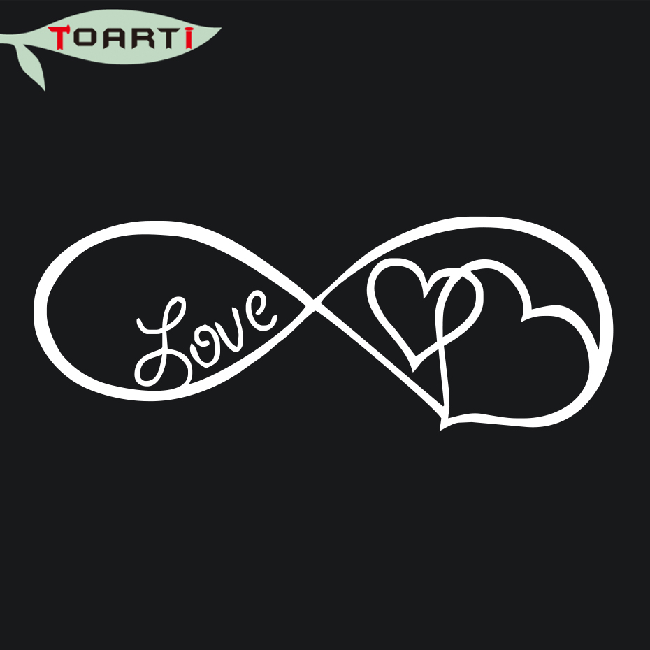 Car styling love heart infinity forever symbol vinyl decal window car styling love heart infinity forever symbol vinyl decal window laptop bumper sticker lover personality decor accessories in car stickers from automobiles biocorpaavc