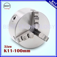K11 100mm 3 jaw Chuck self centering manual chuck four jaw for CNC Engraving Milling machine ,CNC Lathe Machine!