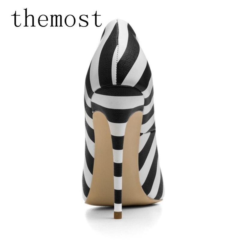 Chaussures Chine De Grande Femmes Pompe Rivers Talons Clouté Taille Multi Mode La Rayé Haute Themost Usine qBIpTOwnI