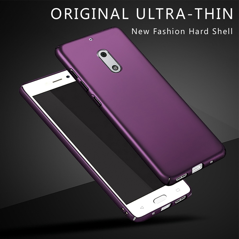 Matte Shell Cover For Nokia 6 2017 Case For Nokia6 TA-1021 Cover Full Protection Hard PC Fundas For Nokia 6 TA-1003 TA-1000 Case