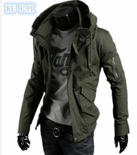 2017 spring tide male jacket new mens leisure thin washed youth baseball service