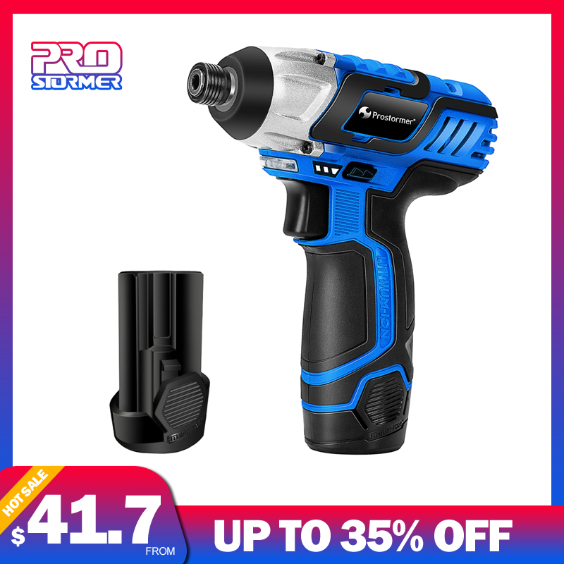 PROSTORMER 12V Electric Screwdriver Cordless Drill 100NM Rechargeable Battery Power Cordless Screwdriver Screw Power Tool