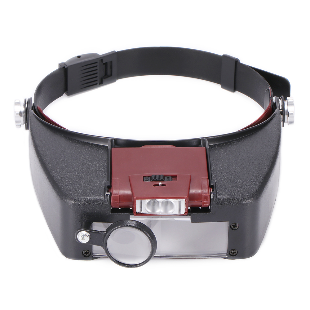 Headband Magnifier Led Light Head Lamp Magnifying Glass With Led Lights OX