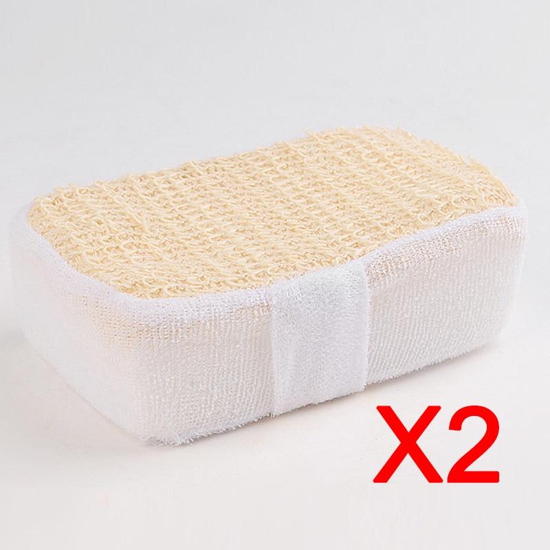 2 pz nuovo bagno di spugna super soft pennello sfregamento sfera spa scrubber per le donne