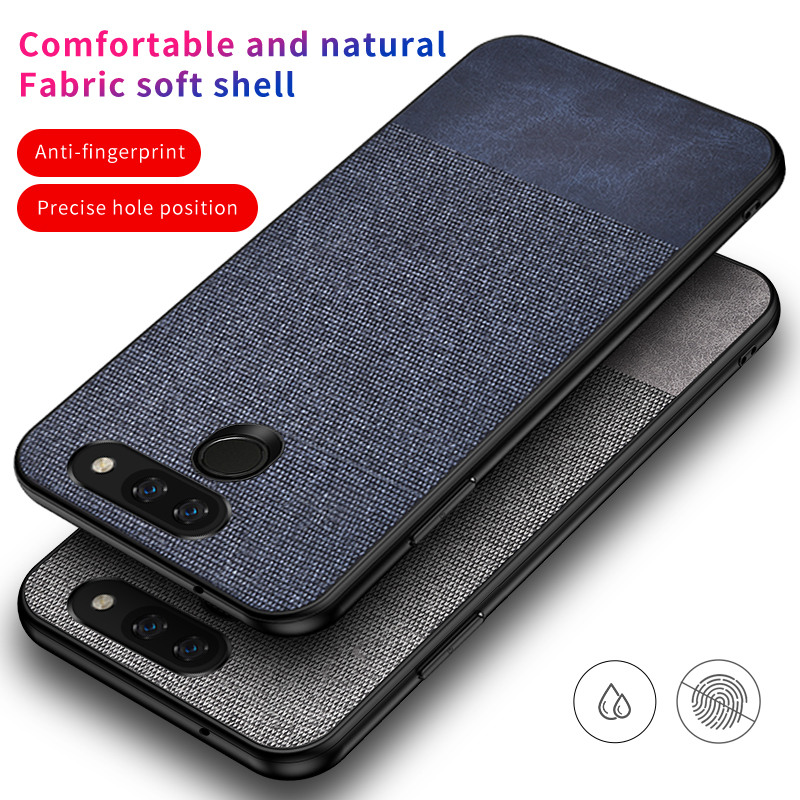 For LG G8 thinq Case Cloth Fabric Texture For LG Stylo 5
