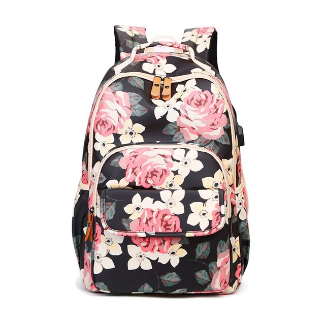 OKKID kids pink flower backpac…