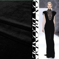 Black Wool Super Black Ultra Dense Vertical High Grade Imported Thick Velvet Cloth Simulation Luxurious Velvet