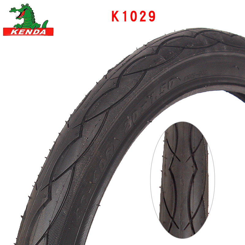 KENDA City Bicycle tire K1029 Steel wire 14 20 <font><b>26</b></font> inches 20*1.5 20*1-3/8 60TPI 1.25 1.75 Half bald headed bike tires parts image
