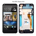 For HTC Desire 816 816W D816x LCD display touch screen digitizer + Bezel frame full assembly + Tools, free shipping