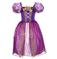 2017 New Girls Cinderella Dresses Children Snow White Princess Dresses Rapunzel Aurora Party Halloween Costume Brand