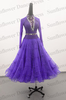 Ballroom Dance Dress purple ballroom dancing wear performance costumes high neck ballroom dancewear