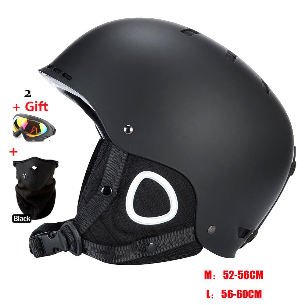 Mond skifahren helm herbst und winter erwachsenen männlichen damen monoboard skifahren flanchard ausrüstung Schnee Sport Günstige Helme 2 geschenke