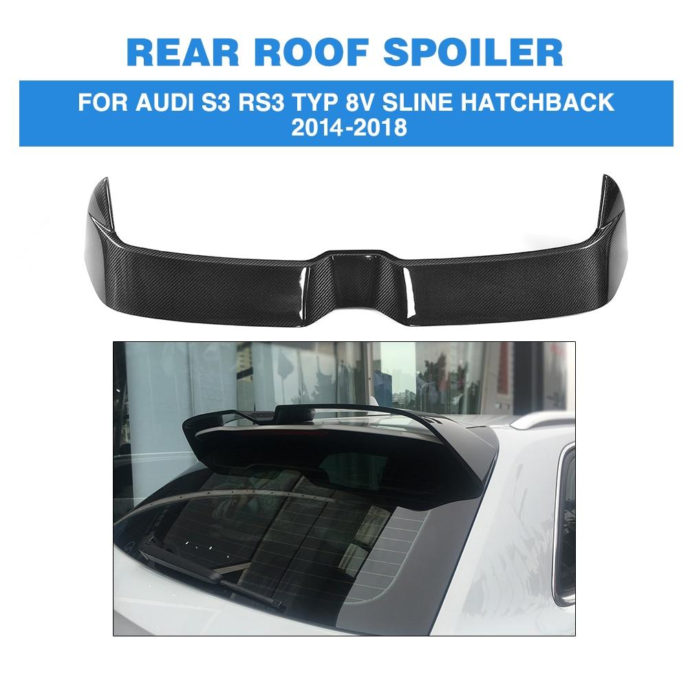 ML Style Carbon Fiber Car Rear Boot Wing Lip Roof Spoiler for Audi S3 RS3 Typ 8V SLINE Hatchback 4 Door 2014-2018 Not fit 2door