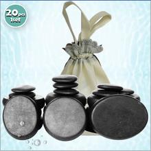 Best selling! 20pcs/set Hot stone massage body set Salon SPA with heater bag