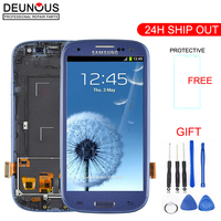 Original For SAMSUNG Galaxy S3 Display i9300 i9300i Touch Screen Digitizer Replacement For SAMSUNG Galaxy S3 LCD Screen Frame