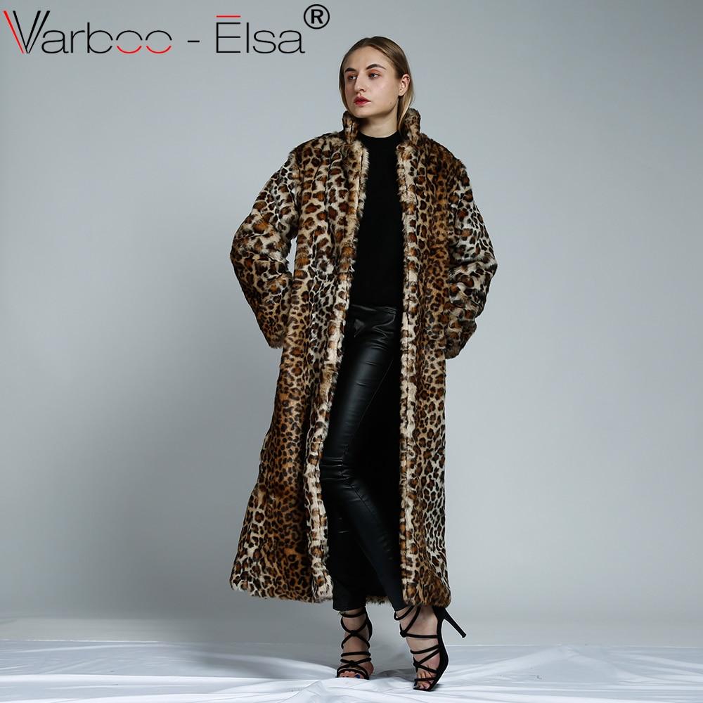 Veste femme Faux Fourrure Léopard Manteau Outwear Ladies Épaississement Overcoat