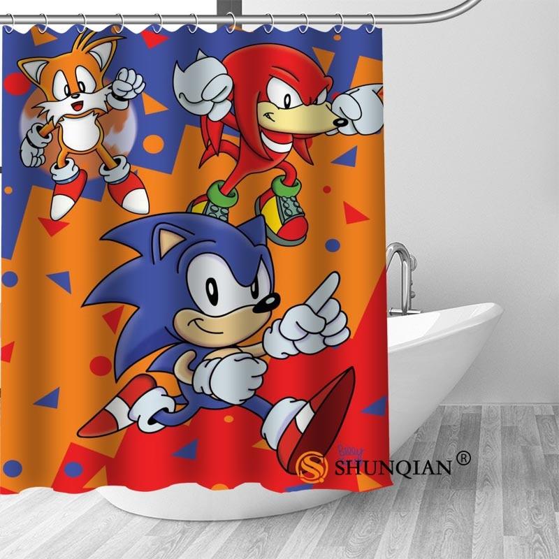 New Arrival Waterproof Sonic The Hedgehog Bathroom Shower Curtain 66 x 72 Inch