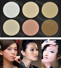 Women Makeup Cosmetic Contour Shading 6 Color Concealer Palette Powder Free Shipping