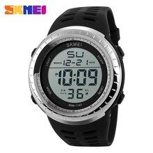 Skmei marca moda resistente a los golpes de los hombres exterior militar hombres de los relojes de Digital LED Casual hombres de los deportes de pulsera