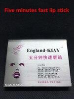 12 Pçs/caixa 5 min Rápida Agente de Reparação Máscara Lábio Para Permanente Lábio Maquiagem Frete Grátis