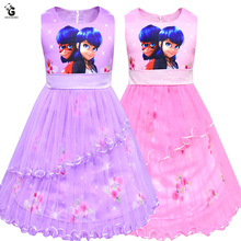 Ladybug Dresses For Girls Ladybug Costume Kids Girl Dress Party Dresses Girls Clothes Summer Princess Dress Gowns for Children