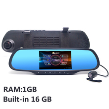 5.0″ Touch Android Rearview mirror Car DVR Bluetooth WiFi FM FHD 1080P dash camera parking video recorder Navitel or Europe map