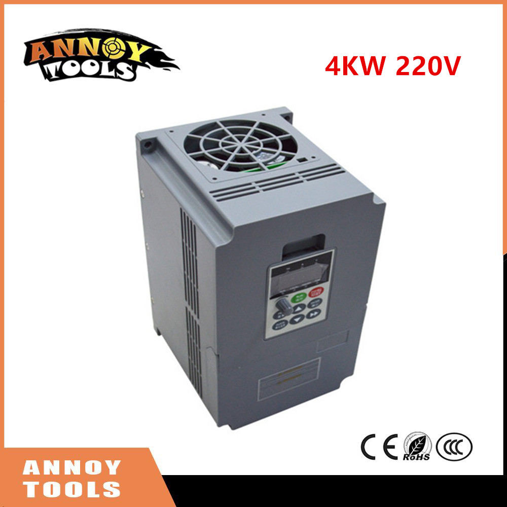 4KW 220V single phase input frequency inverter 17A, 220v 3 phase output mini frequency drive converter V8 series