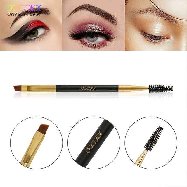 Docolor New Eyebrow Brush Makeup Brush Eyebrow Brush Eyebrow Comb Double Ended Brushes Beauty blending eye pinceaux maquillage 4