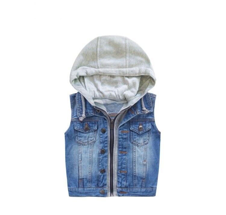 Children Vest Waistcoat Sleeveless Outerwear 2017 Autumn Spring Kids Jacket For Girls Boys Clothes Solid Cowboy Coat Winter Suit