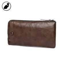 ETONWEAG New 2016 women famous brands cow leather brown vintage mini purses zipper luxury organizer wallets day clutch bags