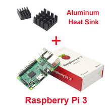 Raspberry Pi3 Model B E14 1G 64-Bit Quad-Core ARM WiFi & Bluetooth + CPU Aluminum Heat Sink For Raspberry Pi3 Free Shipping
