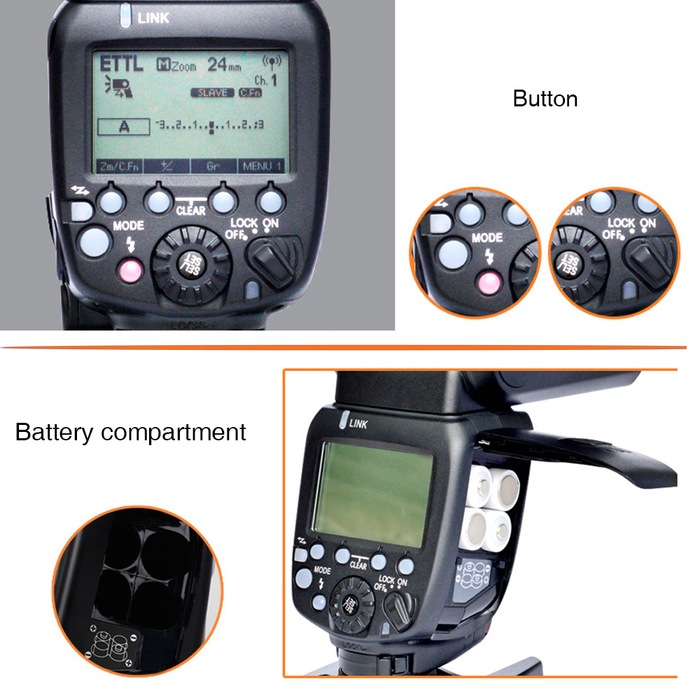 Yongnuo YN600EX-RT II TTL Flash Speedlite + YN-E3-RT Controller Voor - Camera en foto - Foto 4