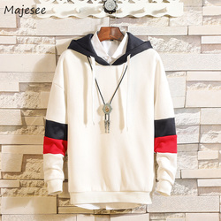 Hoodies Men Hooded Hole Letter Printed Loose Simple All-match Korean Style Harajuku Sweatshirts Mens Trendy Soft Clothing Chic 3
