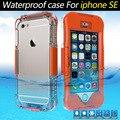 Para a apple iphone se atualizar seguinte 5S reforçada com a função de impressão digital touch-screen casos de telefone à prova d' água para animais de estimação