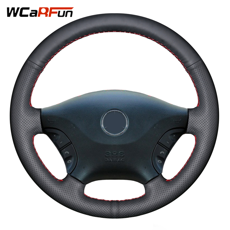 Wcarfun Steering-Wheel-Cover Vito W639 Viano Mercedes-Benz 2007 For Black 2006 2009 Artificial
