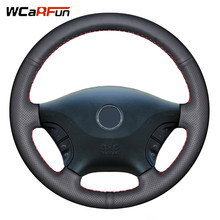 WCaRFun Black Artificial Leather Steering Wheel Cover for Mercedes Benz Viano w639 2006 2007 2008 2009 2010 2011 Vito 2010-2015(China)