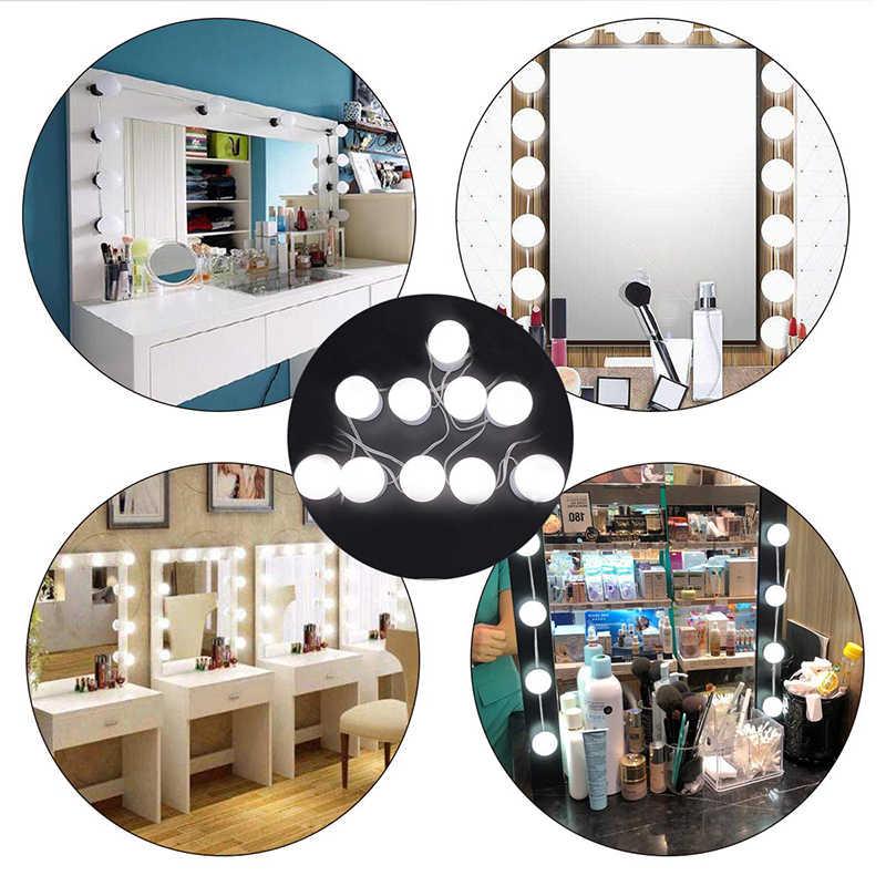 Макияж зеркало тщеславие Светодиодный лампочки комплект, usb зарядный порт косметический освещенный макияж зеркала лампы регулируемые яркие фонари
