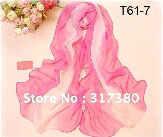 Wholesale Retail Classic Changing Colors Women Silk Feeling Scarves Fashion Ladies Airy Shawls Stole Muffler Spring Summer 2013