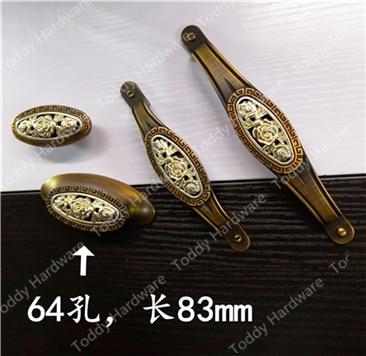 Single/64/96/128mm Vintage Perilla Del Gabinete de Cocina Muebles ...