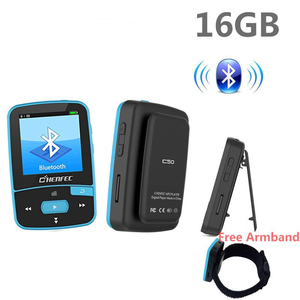Image 1 - Bluetooth MP4 Player 16GB Clip Sport Sweatproof Lossless Audio Player with FM Radio pedometer and Bookmark,Maximum Support 64GB