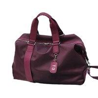 Wohlbege Men and Woman Motion Casual Handbag Fitness Bag Nylon Travel Bag New Large Capacity Outdoor Duffel Bag
