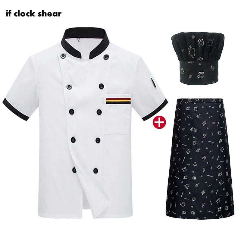 High Quality White Chef Jacket Kitchen Catering Work Clothes Men Unisex Short Sleeved Chef Restaurant Uniform M-4XL Cooker Shirt
