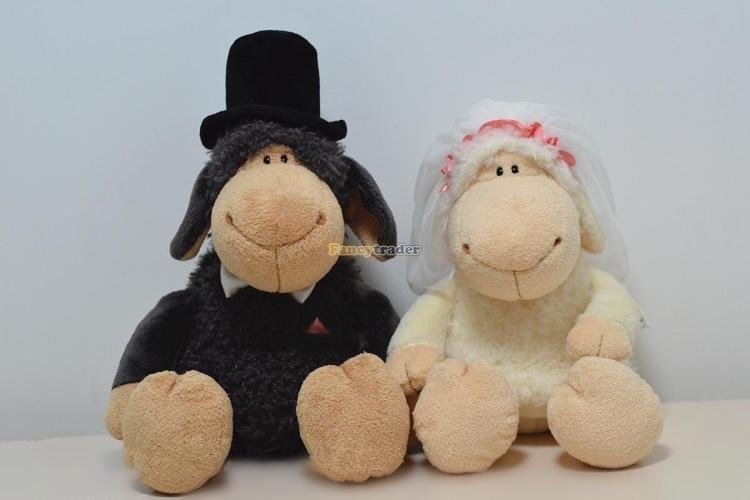 Fancytrader 20\'\' 50cm 2 pcs Plush Stuffed NICI Jolly Mah Sheep, Free Shipping FT90399 (1)