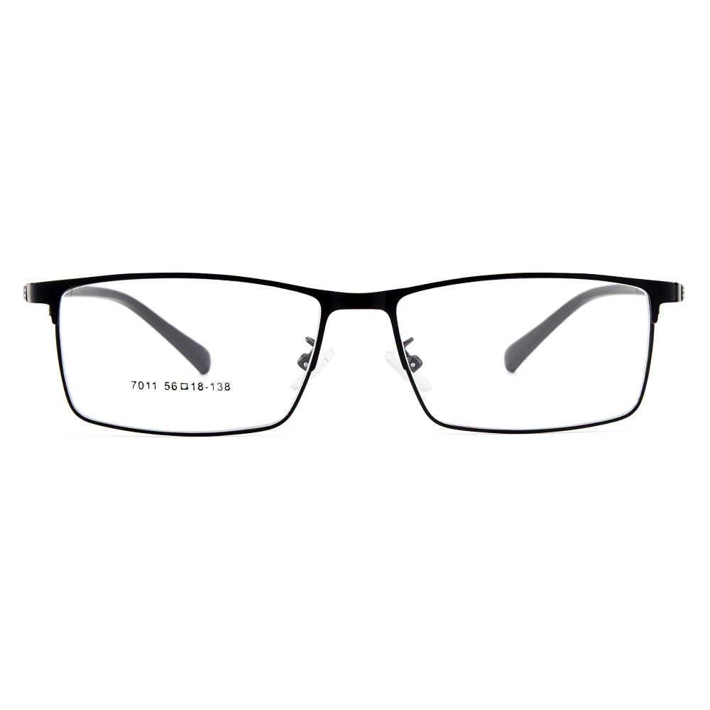 Gmei Optik Pria Titanium Paduan Kacamata Rentang untuk Pria Kacamata Fleksibel Kuil Kaki IP Elektroplating Paduan Kacamata Y7011